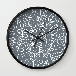 Simple White Wall Clock
