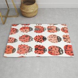 ladybug pattern Rug