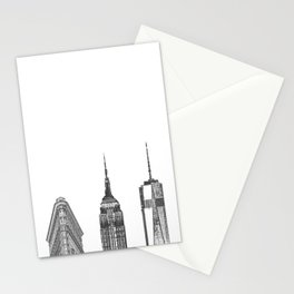 New York City Iconic Buildings-Empire State, Flatiron, One World Trade Stationery Cards