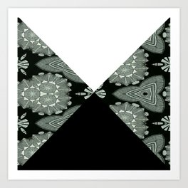 Microbelack and white angles Art Print