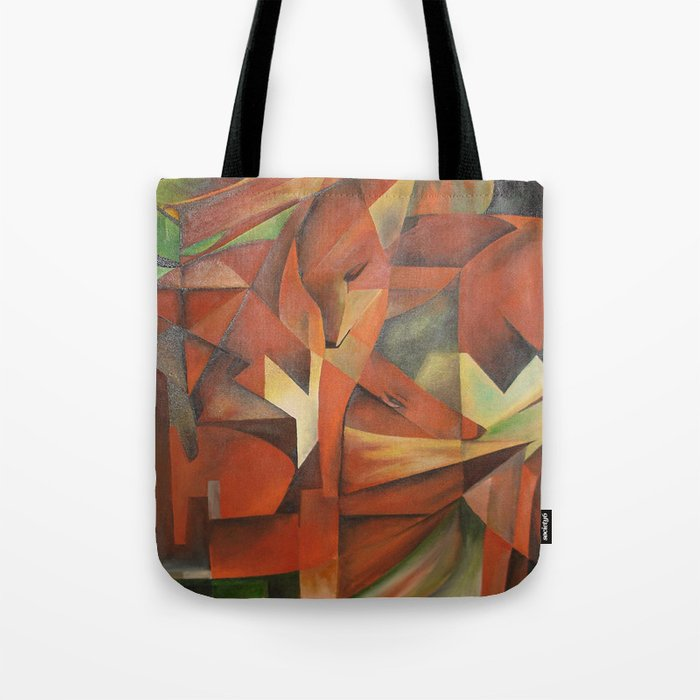 Foxes - Homage to Franz Marc (1913) Tote Bag