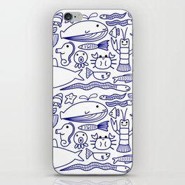 Lines Under the Sea iPhone Skin