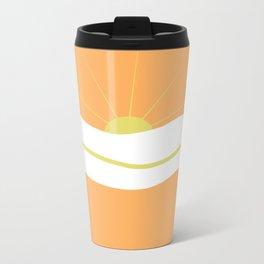""""""" Orange days """" Metal Travel Mug"""