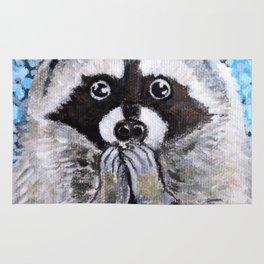 Mischief the Raccoon Rug