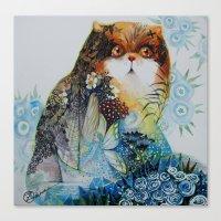 fairy Canvas Prints featuring Fairy - Cat by oxana zaika