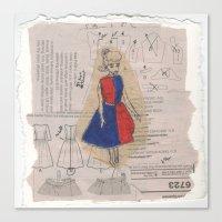 barbie Canvas Prints featuring Barbie by Sophie Jewel