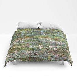 Monet, Water Lilies and Japanese Bridge, 1854 Comforters