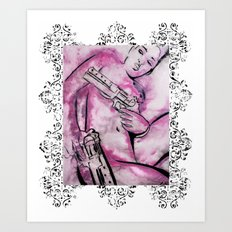 Caliber Love #3 Ornate Art Print