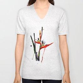 Bird of paradise flower Unisex V-Neck