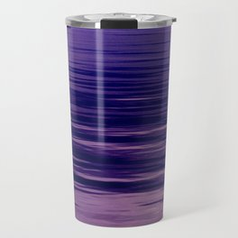 Movement of Water on a Calm Evening- Violet Abstraction Travel Mug