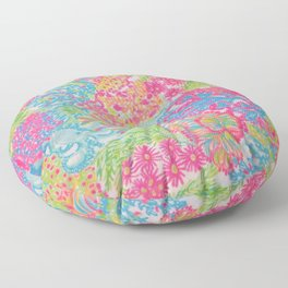 Inspired by lilly Floor Pillow