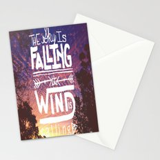 The sky is falling, the wind is calling Stationery Cards