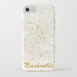 Nashville Map Gold iPhone Case