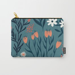 HAND PAINTED AUTUMN / SPRING FLORAL BOUQUETS Carry-All Pouch