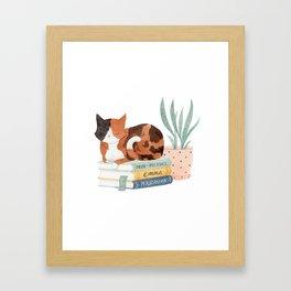 Austen Kitty Framed Art Print