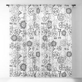 Supernatural Symbols Sheer Curtain