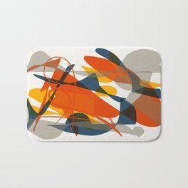 Abstract Bird Bath Mat