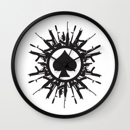 Armed Spade Wall Clock
