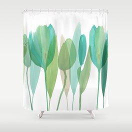 Serene Greens IV Shower Curtain