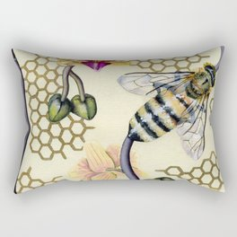 In Her Garden Rectangular Pillow