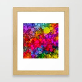 Rainbow Bubbles Abstract Design Framed Art Print