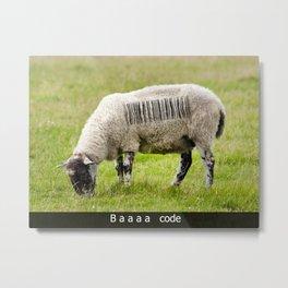 Baaa code Metal Print