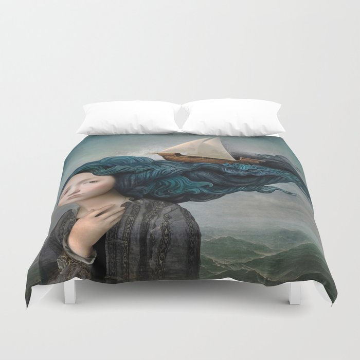Message from the Sea Duvet Cover