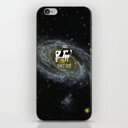 A cow become Space Junk at the Universe iPhone Skin
