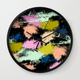 Dabs of paint Wall Clock