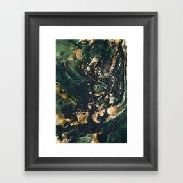 Fluid Gold Series II Framed Art Print
