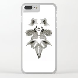 Rorschach Composition Clear iPhone Case