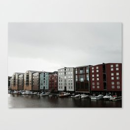 Waterfront in Trondheim Canvas Print