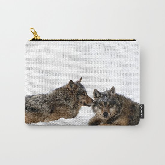 Wolves In the Snow Carry-All Pouch