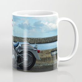 Motorcycle At The End Of The Rainbow Coffee Mug