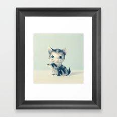 Little Grey Framed Art Print