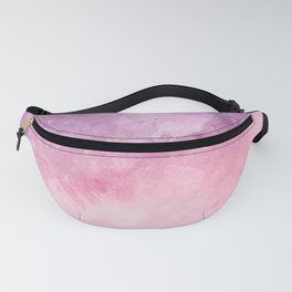 Pink Purple Watercolor Texture Art Print Fanny Pack