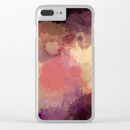Modern Contemporary Ultra Violet Glow Abstract Clear iPhone Case