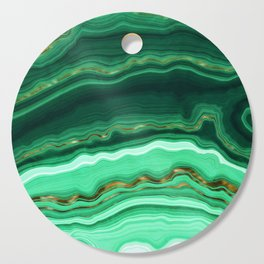 Gold And Malachite Marble Cutting Board