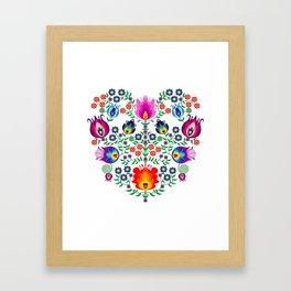 Folk Pattern - Flower Framed Art Print