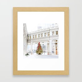 Magic on Chicago's Mag Mile Framed Art Print
