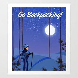Go Backpacking! Art Print