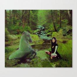 Tara and the Each Uisge Canvas Print