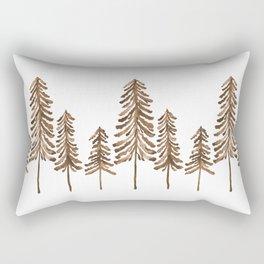 Pine Trees – Sepia Palette Rectangular Pillow