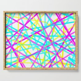 Abstract Lines CYM Serving Tray