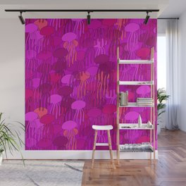 Jellyfish-Pink Wall Mural