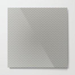 Greytone Chevron Metal Print