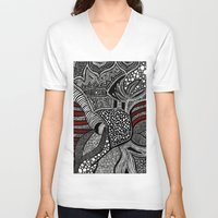 wave V-neck T-shirts featuring Wave by Lauren Moore