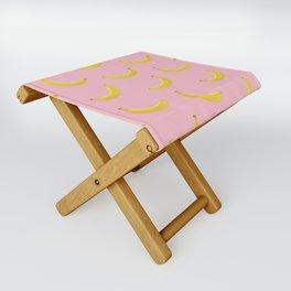 Banana in pink Folding Stool