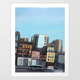 Twilight on 10th Avenue Art Print