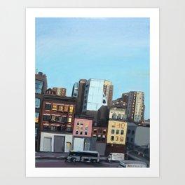 Twilight on 10th Avenue Art Print
